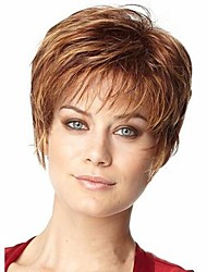 cheap -Synthetic Wig Curly Wig Short Dark Brown Women's Brown