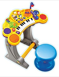 Недорогие -canhui дети электронное пианино с микрофоном и стулом