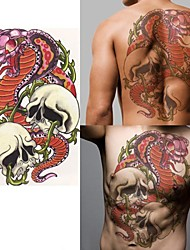 cheap -1 pcs Temporary Tattoos Eco-friendly / High quality, formaldehyde free Body / Shoulder / Back Water-Transfer Sticker Tattoo Stickers