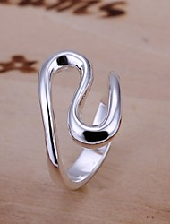 cheap -Women's Band Ring wrap ring Silver Sterling Silver Ladies Unusual Unique Design Wedding Party Jewelry Princess