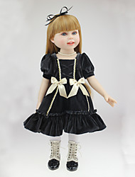 """abordables -18"""" Princesse poupée Fille Poupée Reborn Baby Doll Jouets Fait à la Main Sécurité Enfant Nouveau née réaliste Non Toxique Silicone Vinyle"""