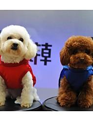 cheap -Dog Rain Coat Dog Clothes Red Blue Costume Cotton Sports XS S M L XL
