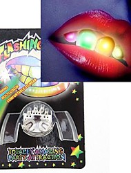 cheap -novelty 2nd generation multi color led flashing false teeth novelty party toys practical joke gadgets