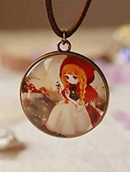 cheap -Fashion New Cute Little Red Riding Hood Long Necklace