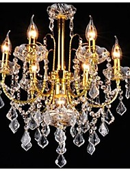 cheap -7-Light 54 cm Crystal / LED Chandelier Metal Glass Gold Traditional / Classic 110-120V / 220-240V