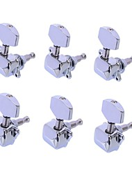 cheap -3R3L Chrome Semiclosed Tuning Pegs Machine Heads for Acoustic Guitar