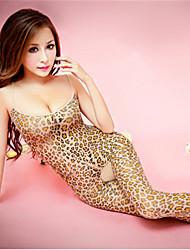 Недорогие -Жен. С принтом Большие размеры Эротический Ультра-секси Комбинация Ночное белье Леопард Цвет экрана S M L