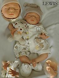 abordables -Poupées Reborn Bébé 22 pouce Silicone Vinyle - Nouveau née réaliste Fait à la Main Sécurité Enfant Non Toxique Pour enfants Fille Jouet Cadeau