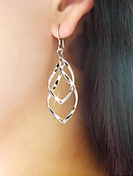 cheap -Women's Drop Earrings Twisted Drop Ladies Fashion Earrings Jewelry Golden / Silver For Wedding Party Daily Casual