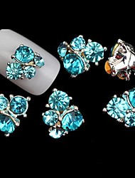cheap -blue lovely wedding finger toe nail jewelry glitter metal 5pcs 4 3 1