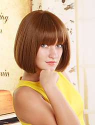 cheap -Synthetic Wig Straight Wig Short Light Brown Women's Brown