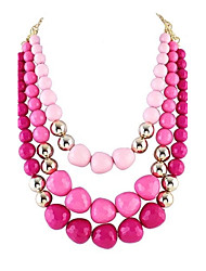 cheap -Women's Beaded Necklace Pearl Blue Rose Pink Necklace Jewelry For Party Daily Casual