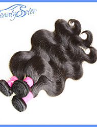 cheap -Weft Human Hair Extensions Body Wave Human Hair Brazilian Hair Women's - Natural Black