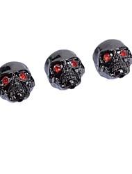 cheap -3 Pcs Black Metal Skull Head Control Knobs for Electric Guitar Guitar Pots Tone Volume Control Knobs/Buttons