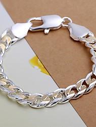 Недорогие -Муж. Браслеты-цепочки и звенья Серебрянное покрытие Браслет Ювелирные изделия Назначение Новогодние подарки Свадьба Для вечеринок Повседневные