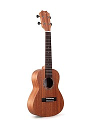 "cheap -Tom 23"" Concert Solid Mahogany Top Ukulele with Aquila String"