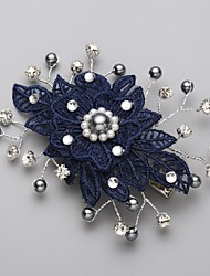 cheap -Imitation Pearl / Cubic Zirconia / Lace Hair Combs / Flowers with 1 Wedding / Special Occasion Headpiece / Alloy
