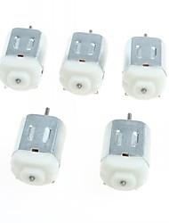 abordables -130 moteurs à courant continu miniatures petit moteur petit moteur à quatre roues (5pcs)