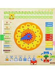 Недорогие -benho календарь фанеры часы деревянные образование логика детские игрушки