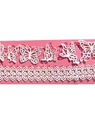 Недорогие -бабочка силиконовые помадные формы кружева свадебный торт украшения инструменты
