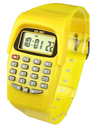 cheap -Kid's Fashion Watch Digital Watch Japanese Quartz Digital Rubber Yellow 30 m Calendar / date / day Casual Watch Digital Ladies Candy color - Yellow Two Years Battery Life