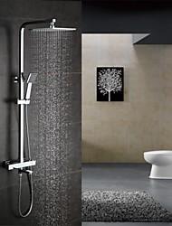cheap -Shower Faucet - Contemporary Chrome Shower System Ceramic Valve Bath Shower Mixer Taps