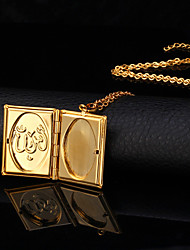 cheap -Women's Pendant Necklace Lockets Necklace Ladies Fashion 18K Gold Plated Copper Gold Plated Necklace Jewelry For Wedding