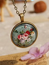 cheap -Fashion New Cute Floral Sweater Necklace