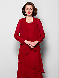 cheap -Long Sleeve Chiffon Wedding / Party Evening Women's Wrap With Draping Coats / Jackets