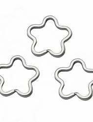 cheap -flower shaped key rings silver 3 pcs toys