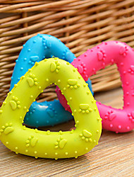 cheap -TRIANGLE Ring Colorful Funny Squeaky Chew Toy for Pets Dogs Toy Cats Toy