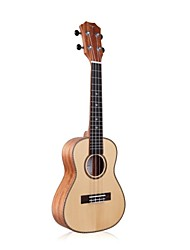 "cheap -Tom 23"" Concert Spruce Top Ukulele with Mahogany B&S Aquila String"