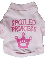 cheap -Cat Dog Shirt / T-Shirt Dog Clothes Pink Costume Cotton Cosplay Wedding XS S M L