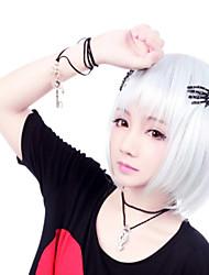 cheap -Cosplay Wigs Women's 14 inch Heat Resistant Fiber Silver Silver Anime