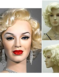 cheap -Synthetic Wig Curly Style Wig Light Blonde Synthetic Hair 4 inch Women's Wig Short StrongBeauty
