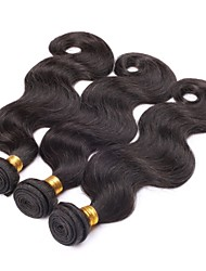 cheap -PANSY Weft Human Hair Extensions Wavy Body Wave Human Hair Brazilian Hair 22 inch Women's Natural Black / 8A