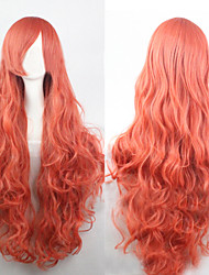 cheap -Synthetic Wig Curly Loose Wave Natural Wave Natural Wave Curly Asymmetrical Wig Blonde Long Dark Pink Synthetic Hair 25 inch Women's Natural Hairline Blonde