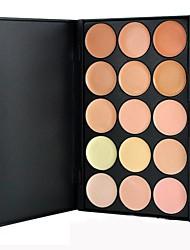 abordables -15 couleurs Correcteur / Contour Humide Correcteur Visage Maquillage Cosmétique