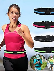 cheap -Running Belt Fanny Pack Waist Bag / Waist pack 1 L for Marathon Camping / Hiking Hunting Fishing Sports Bag Multifunctional Portable Rain Waterproof Polyester Canvas Terylene Running Bag / iPhone X