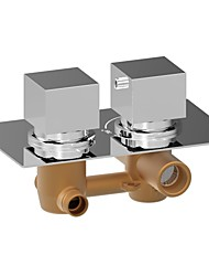 cheap -Shower Faucet - Contemporary Chrome Wall Mounted Brass Valve Bath Shower Mixer Taps / Two Handles Two Holes