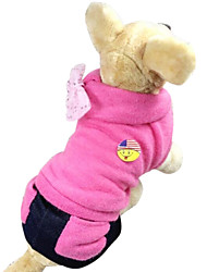 cheap -Dog Sweater Winter Dog Clothes Pink Rose Beige Costume S M L XL