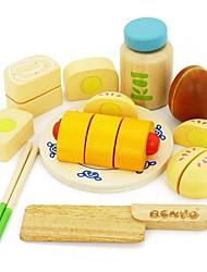 Недорогие -benho каучуковое дерево китайская еда установить деревянную роль играет игрушку