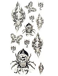 cheap -1pc-new-chic-waterproof-temporary-tattoos-wrist-neck-arm-leg-tattoos-animal-skull-body-tattoos-18-5cm-8-5cm
