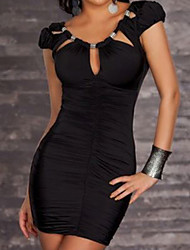 cheap -Hot Girl Low-cut Spandex Nightclub Uniform