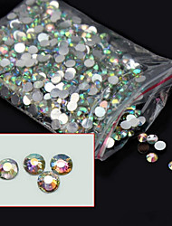 cheap -5000pcs 3mm glitter ab acrylic rhinestones nail art decorations