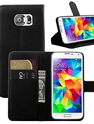 cheap -Case For Samsung Galaxy S7 edge / S7 / S6 edge Card Holder / with Stand / Flip Full Body Cases Solid Colored PU Leather