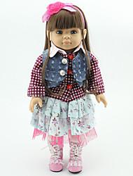 cheap -Reborn Doll Princess Doll Girl Doll Baby 18 inch Full Body Silicone Silicone Vinyl - Newborn lifelike Handmade Child Safe Non Toxic Kid's Girls' Toy Gift