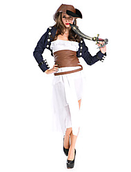 cheap -Pirate Cosplay Costume Women's Halloween Festival / Holiday Polyester Women's Carnival Costumes Patchwork / Hat