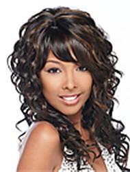 Недорогие -парики из синтетических волос моды цвет смешивания длинные вьющиеся женщины
