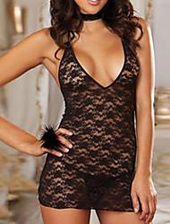 cheap -Hot Girl Black Low-cut Lace Sexy Uniform